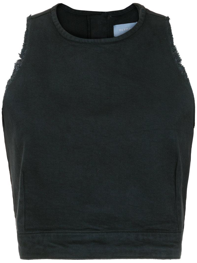 Cheap Explore distressed cropped top - Black OLYMPIAH Sale Online Shop irRTixZ8b