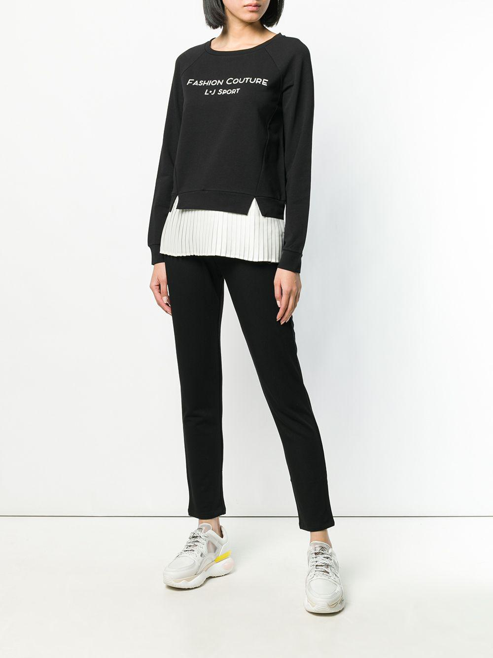Lyst Liu Trim Jo Fullscreen Sweatshirt View Pleated Black rwrqxf
