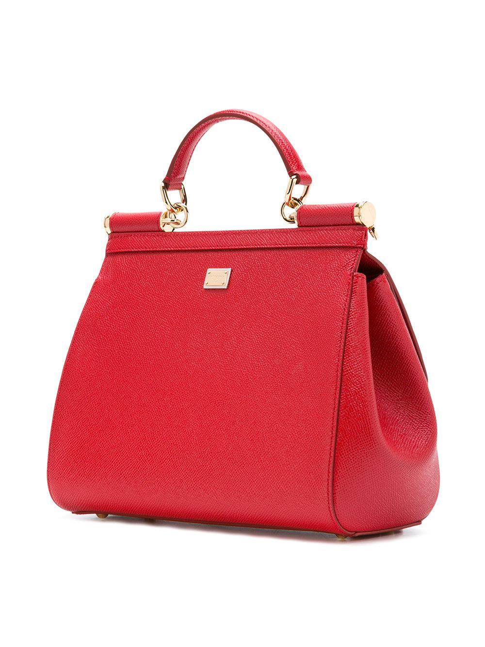 Dolce & Gabbana Famille Fourre-tout Sicile Dg - Rouge Acheter Pas Cher Officiel jaoKy