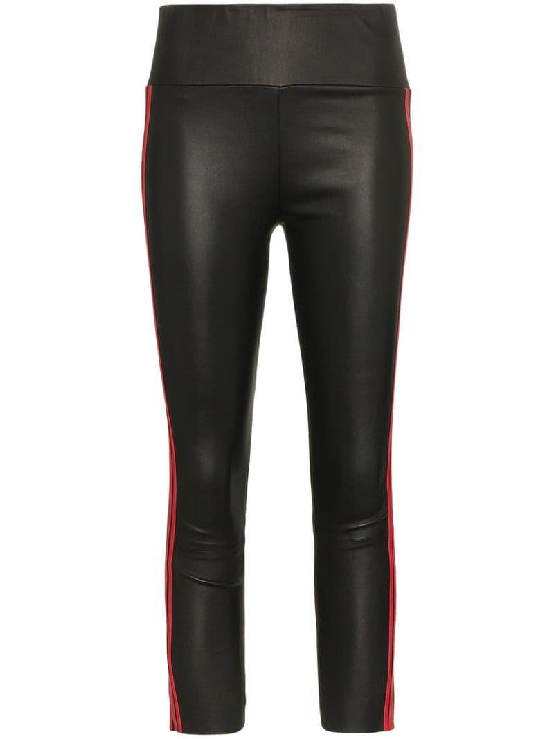 086047711ada49 Lyst - SPRWMN Triple Stripe Leather leggings in Black