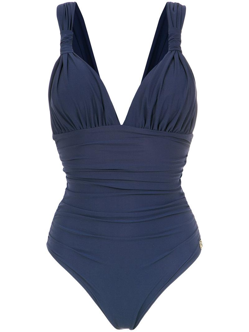 draped swimsuit - Blue Brigitte Clearance 2018 Outlet Buy Buy Cheap Fast Delivery PYk1DX24u