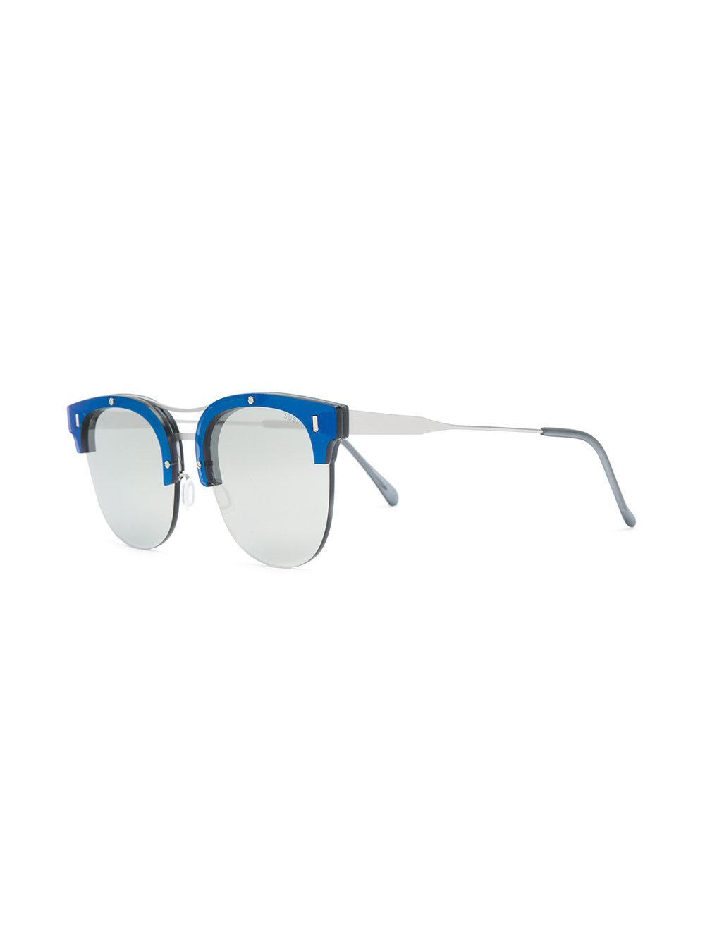 f03af2764bd5 Retrosuperfuture Strada Ivory Sunglasses in Blue - Lyst