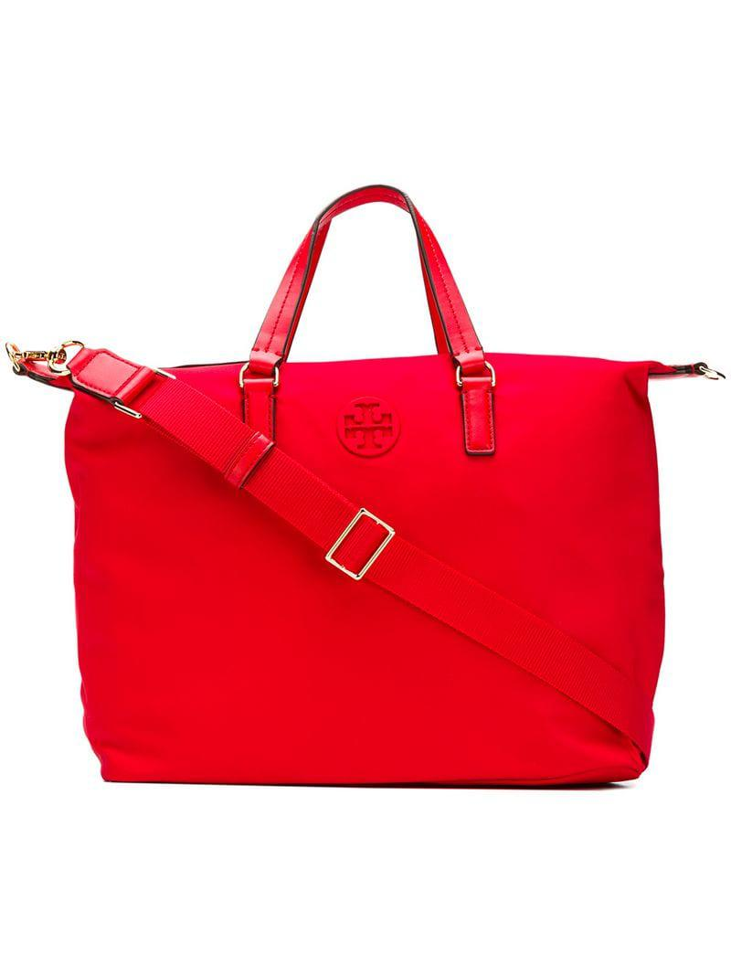 2ac5cd952b17 Lyst - Tory Burch Tilda Small Tote in Red
