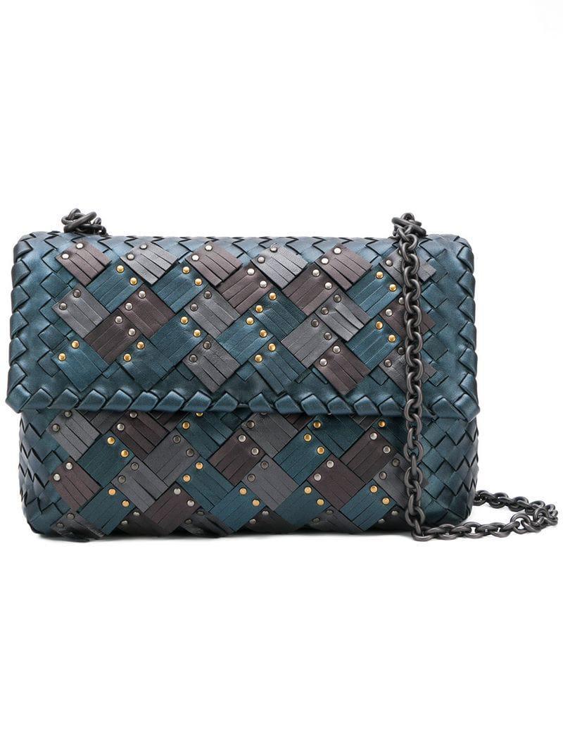 06b726c2ed84 Bottega Veneta Small Olimpia Bag in Blue - Lyst