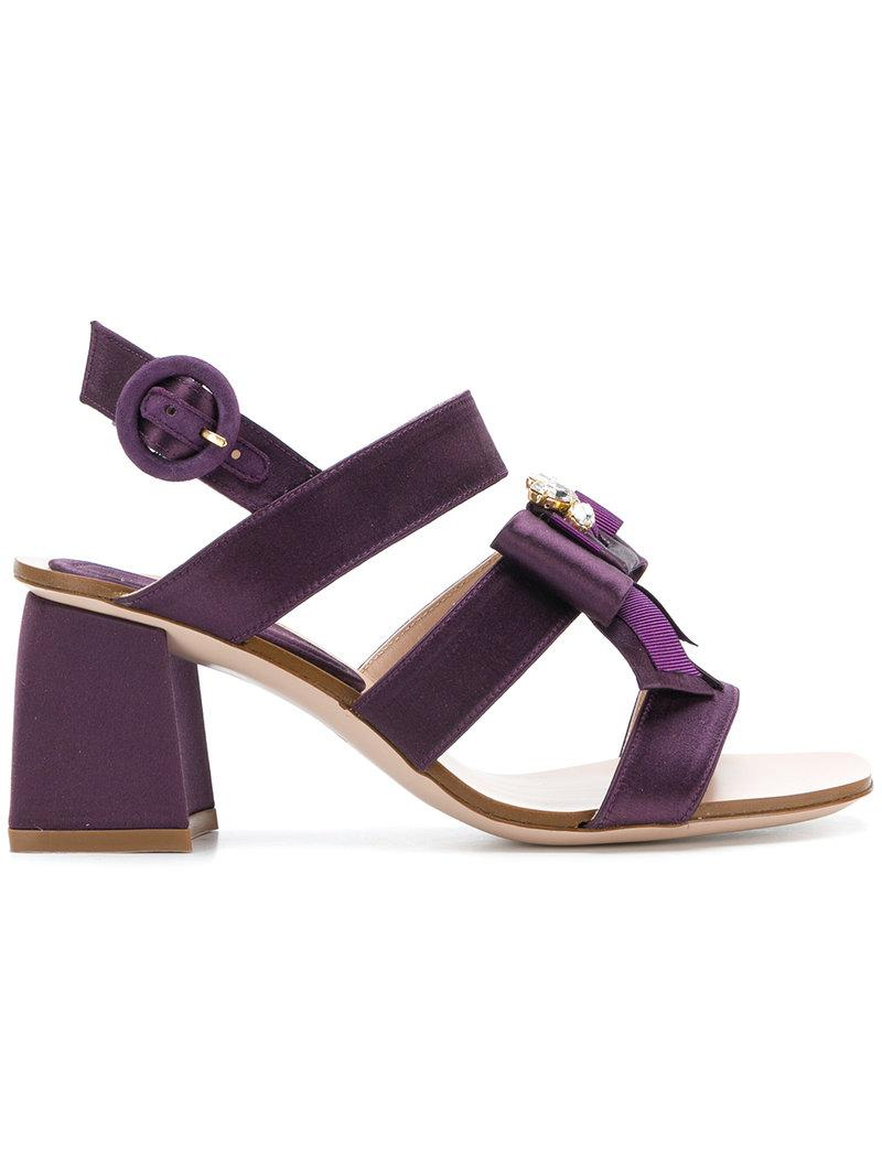 bow-detail satin sandals - Pink & Purple Stuart Weitzman K0ugSX