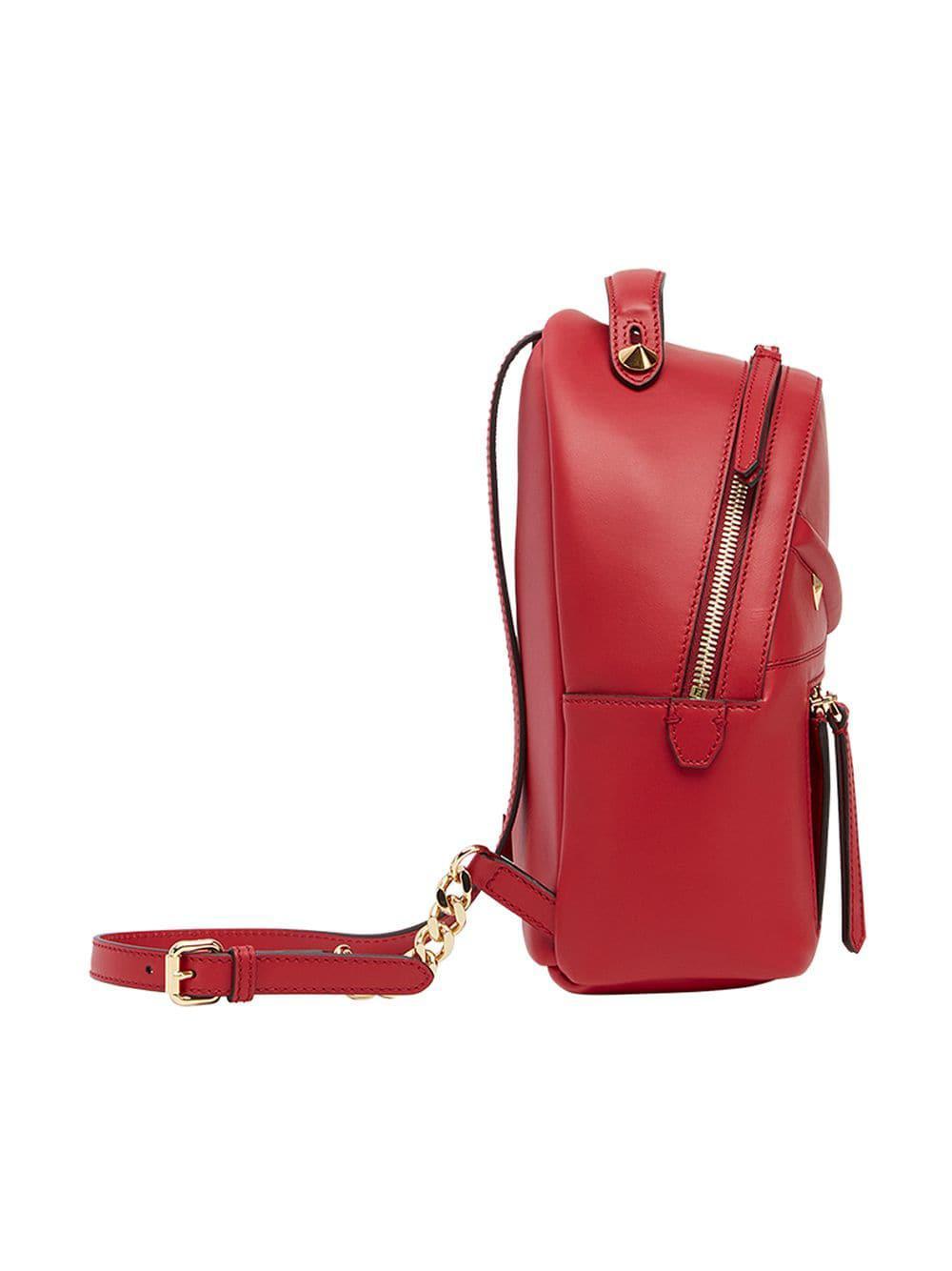 bfe3bbcb8f Lyst - Fendi Mini Backpack in Red