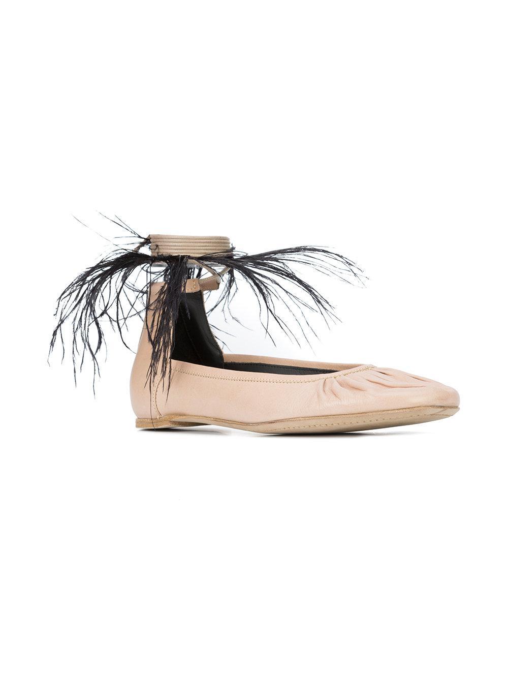 feather detail ballerinas - Nude & Neutrals Ann Demeulemeester E7KQJMDiC