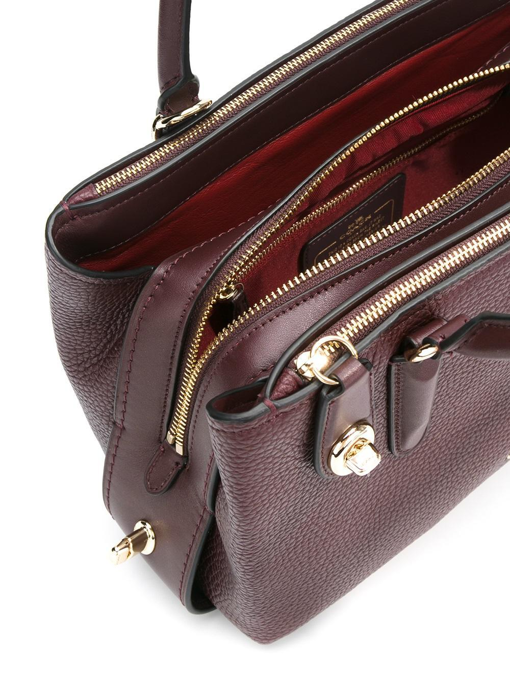 09ae55fbc2 Lyst - COACH 56839 Lioxb     Leather fur exotic Skins- leather in Red