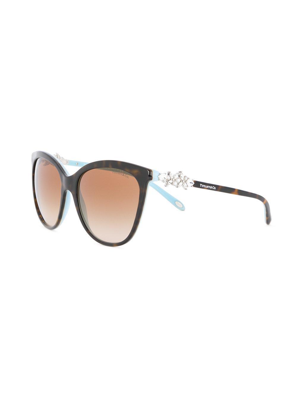 92b31256b3020c Lyst - Lunettes de soleil à monture papillon Tiffany   Co. en ...