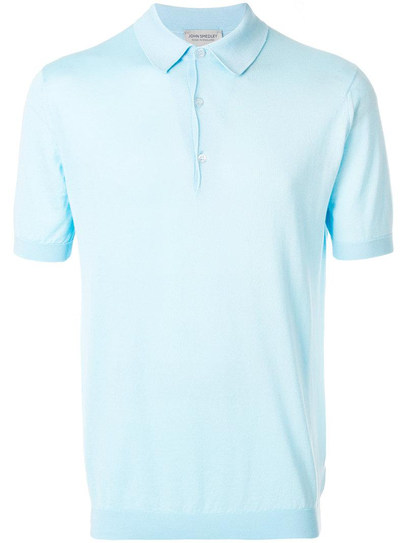 ede549717460 John Smedley Adrian Polo Shirt in Blue for Men - Lyst