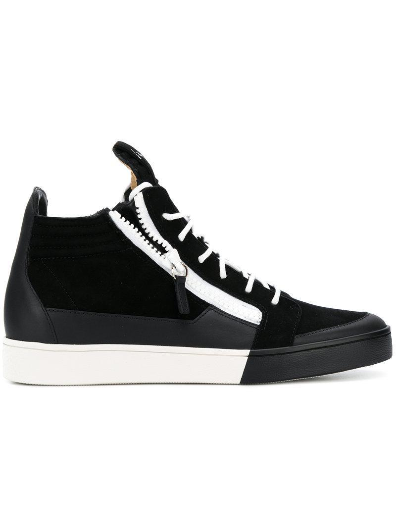 Giuseppe Zanotti Black Brek High-Top Sneakers