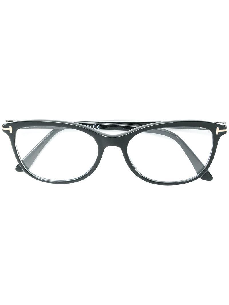 3cb8aeacbe Gafas con montura cuadrada Tom Ford de color Negro - Lyst