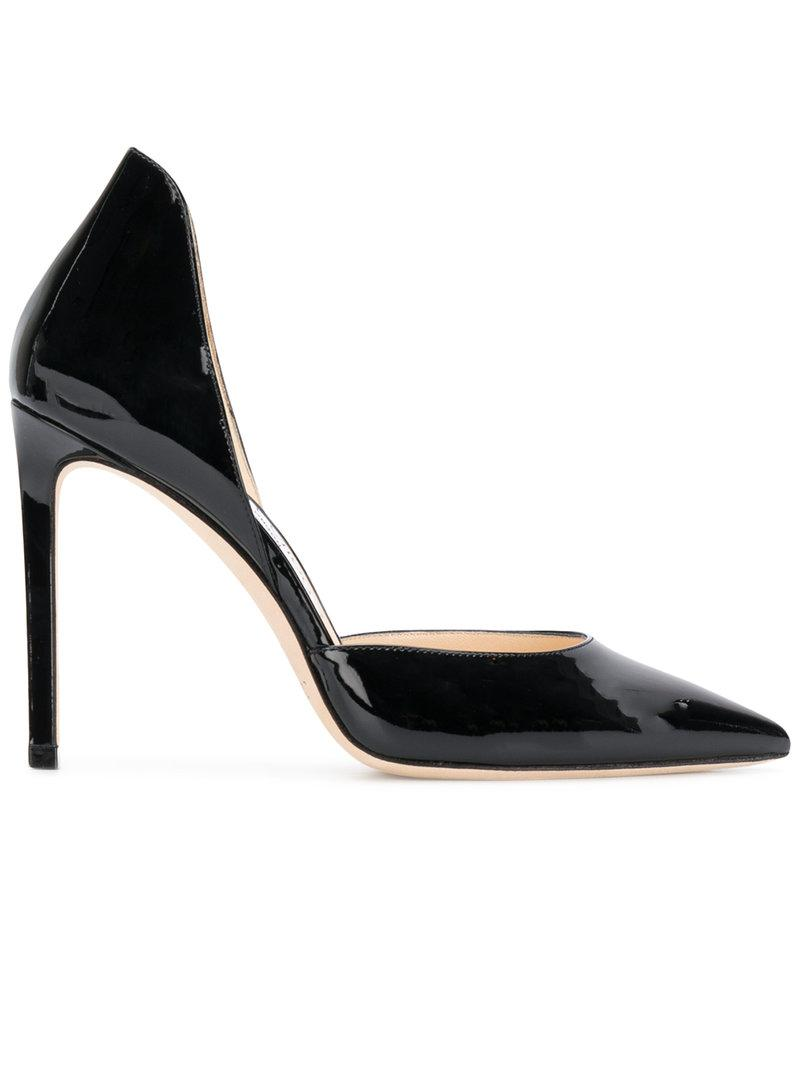 Escarpins En Daim Romy 100 - NoirJimmy Choo London