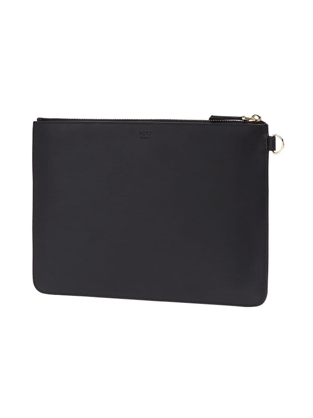 0f49c7bcf772 Lyst - Fendi Bag Bugs Leather Pouch in Black for Men