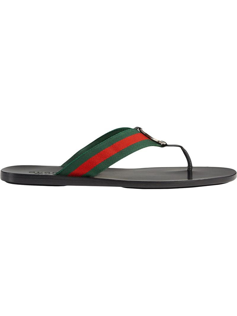 1f748cabbc598d Gucci Web Strap Thong Sandal in Black for Men - Save ...