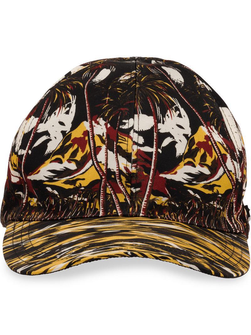 8593e2a73f9 Prada Tropical-print Cap for Men - Lyst