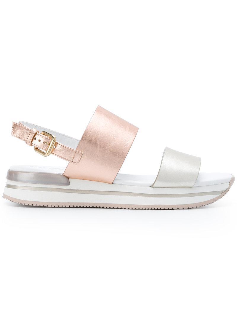 Buy Cheap Really Hogan Metallic strap sandal Cheap Huge Surprise Free Shipping Shopping Online Best Cheap Price Cheapest Online gJDVQXy