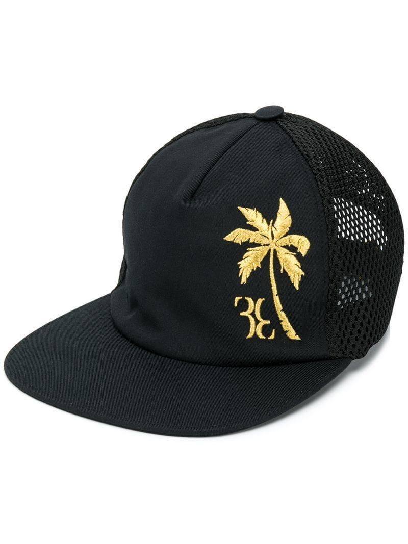 03a63ee31e44 Lyst - Gorra con logo bordado Billionaire de hombre de color Negro