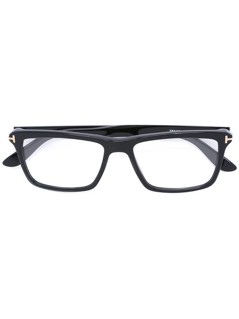 432958c6cd0 Tom Ford Rectangular Shaped Glasses in Black for Men - Lyst
