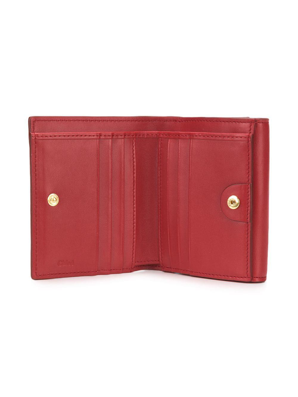 140e6032d2 Chloé Tess Small Wallet in Red - Lyst