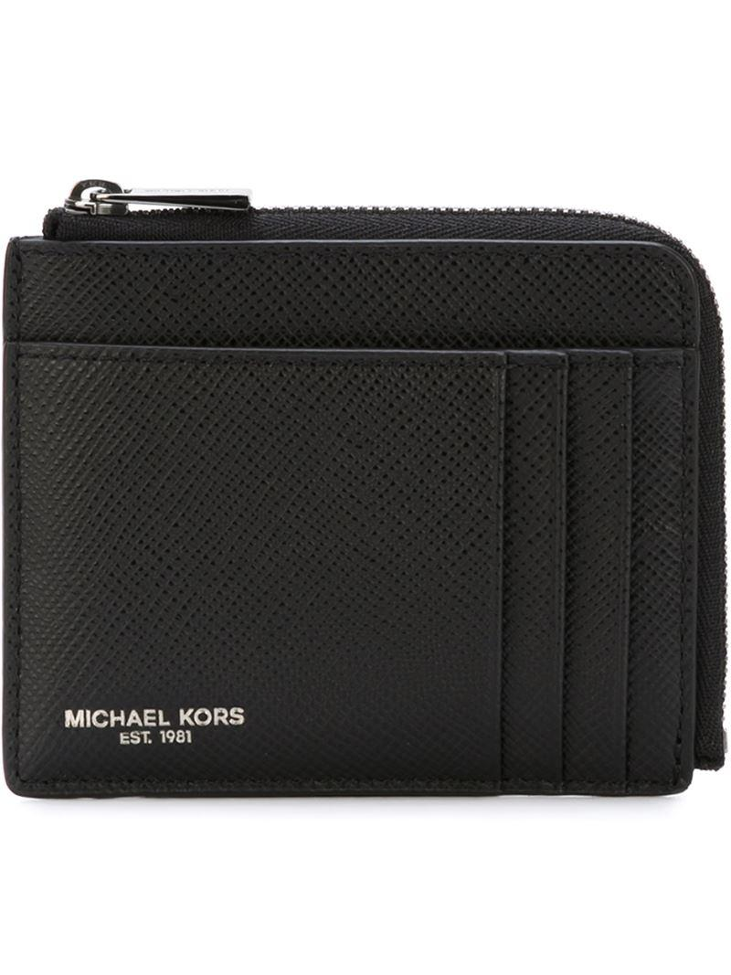 e7cbc5728750a Michael Kors Zip Around Wallet in Black for Men - Lyst
