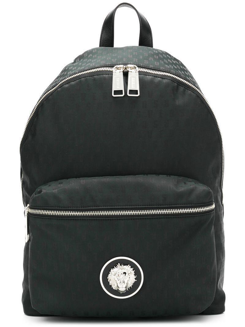 818a139b98 Versus - Black Logo Backpack for Men - Lyst. View fullscreen