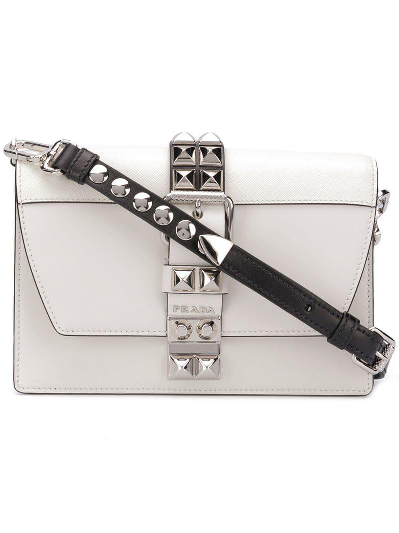 93c6010067ec Prada - White Small Elektra Crossbody Bag - Lyst. View fullscreen