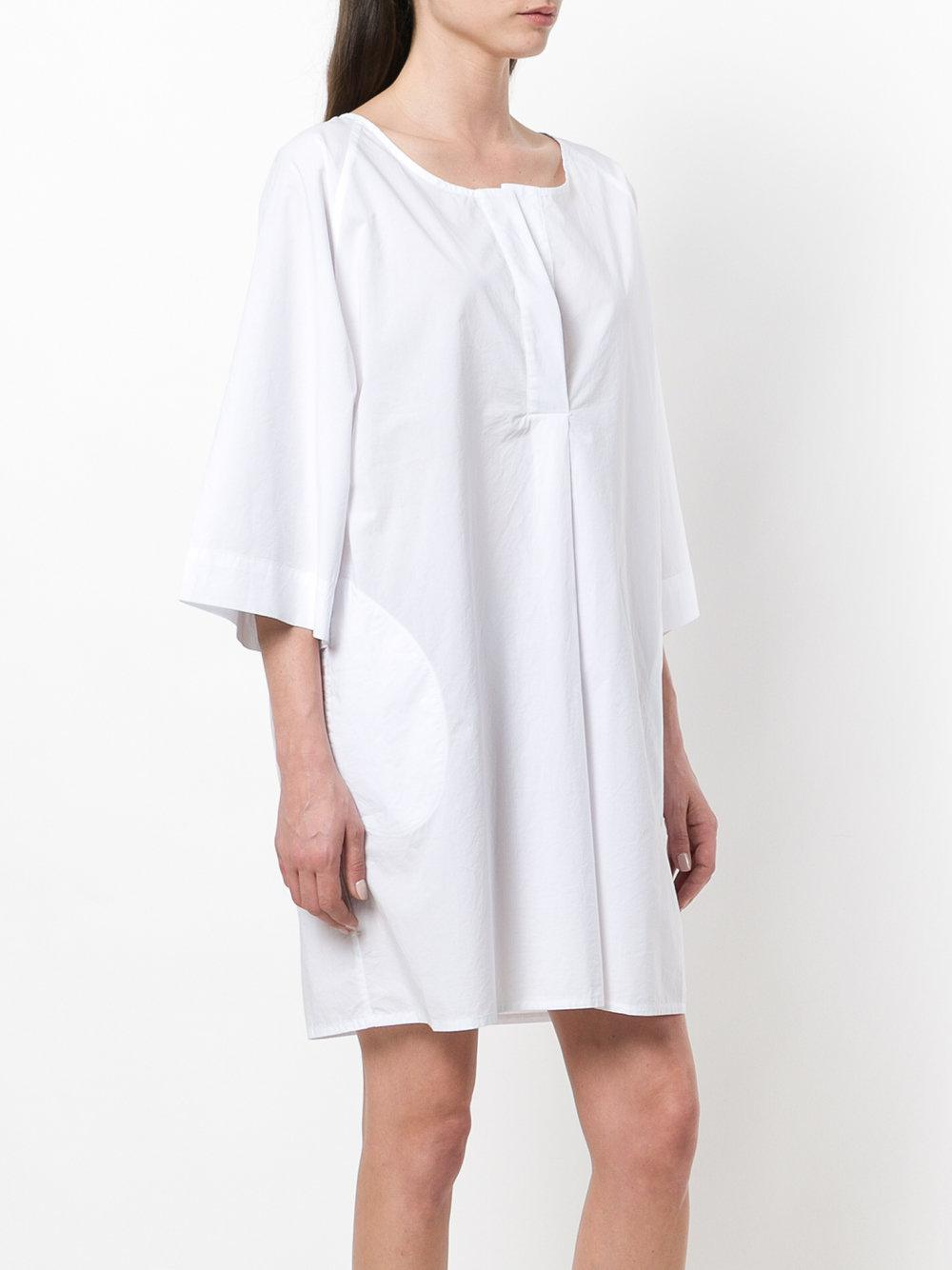 White dress with ribbon Woolrich Free Shipping Best Store To Get Outlet Best Sale Big Discount Online R5MH2Qd8h