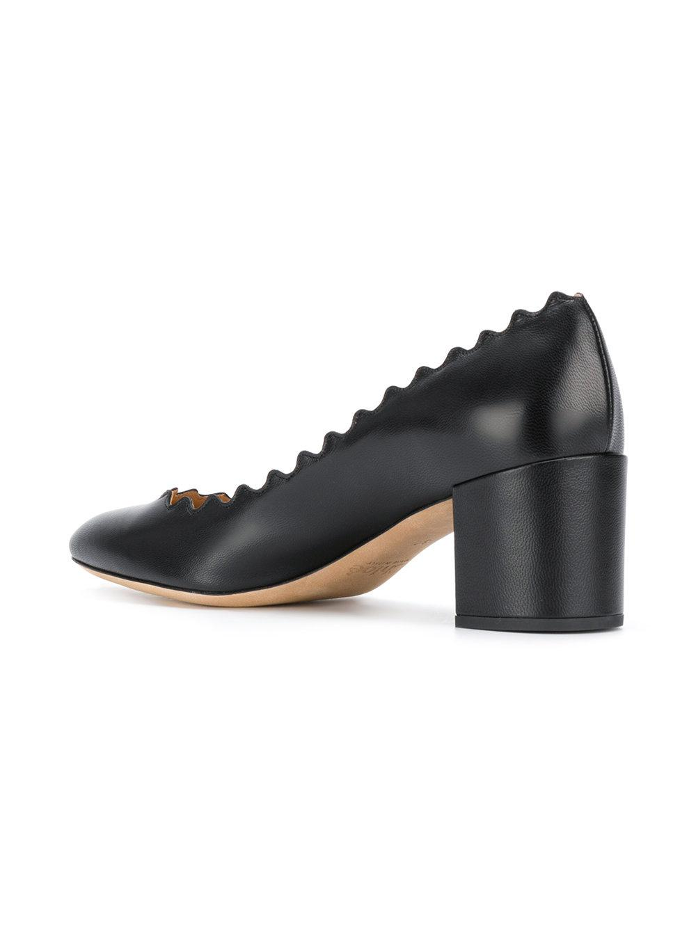 bb5993c02e728 Chloé - Black Lauren Mid-heel Pumps - Lyst. View fullscreen