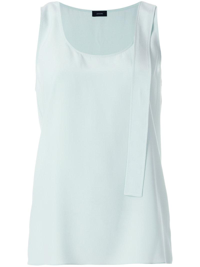 Joseph Flared sleeve-less top jebA9ncjTo