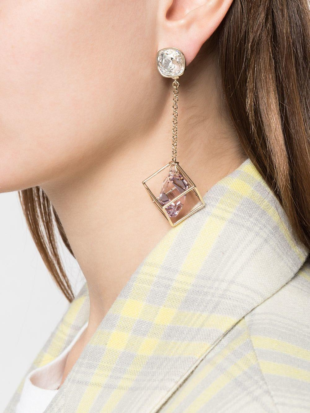 3573963f2ac38 Lyst - Atelier Swarovski Nostalgia Pendant Drop Earrings By Mary Katrantzou  in Metallic