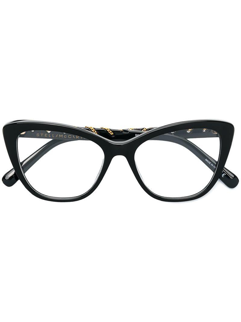 008f0a0c1e Gafas con montura cat eye Stella McCartney de color Negro - Lyst