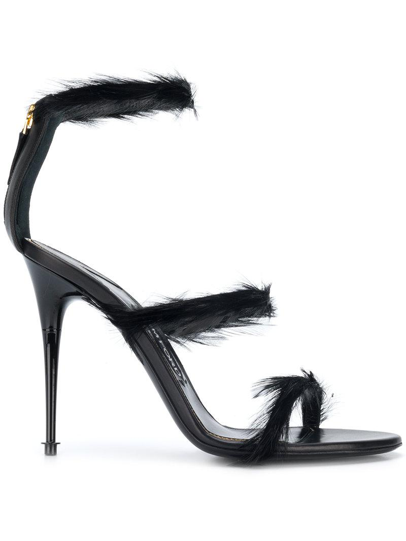 Sandales Sangle De Plumes Tom Ford - Noir 8U8Kq