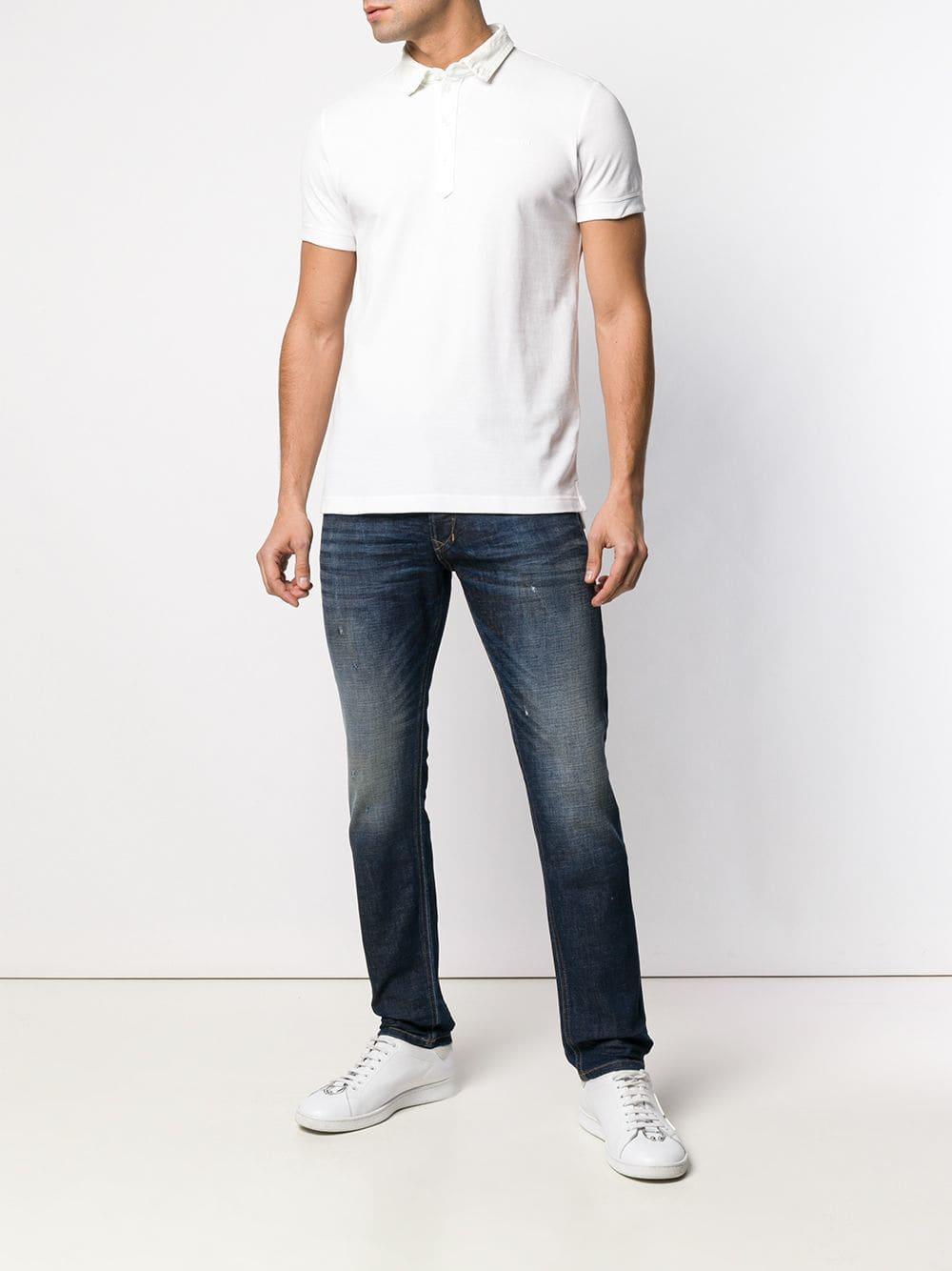f2d80043 Lyst - Diesel T-miles Polo Shirt in White for Men