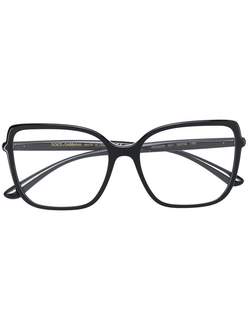 ff6416a4b9d Dolce   Gabbana Oversized Square Glasses in Black - Lyst