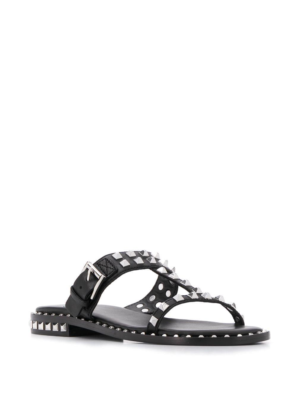 c2c5e79c7fd4 Ash Prince Studded Sandals in Black - Lyst