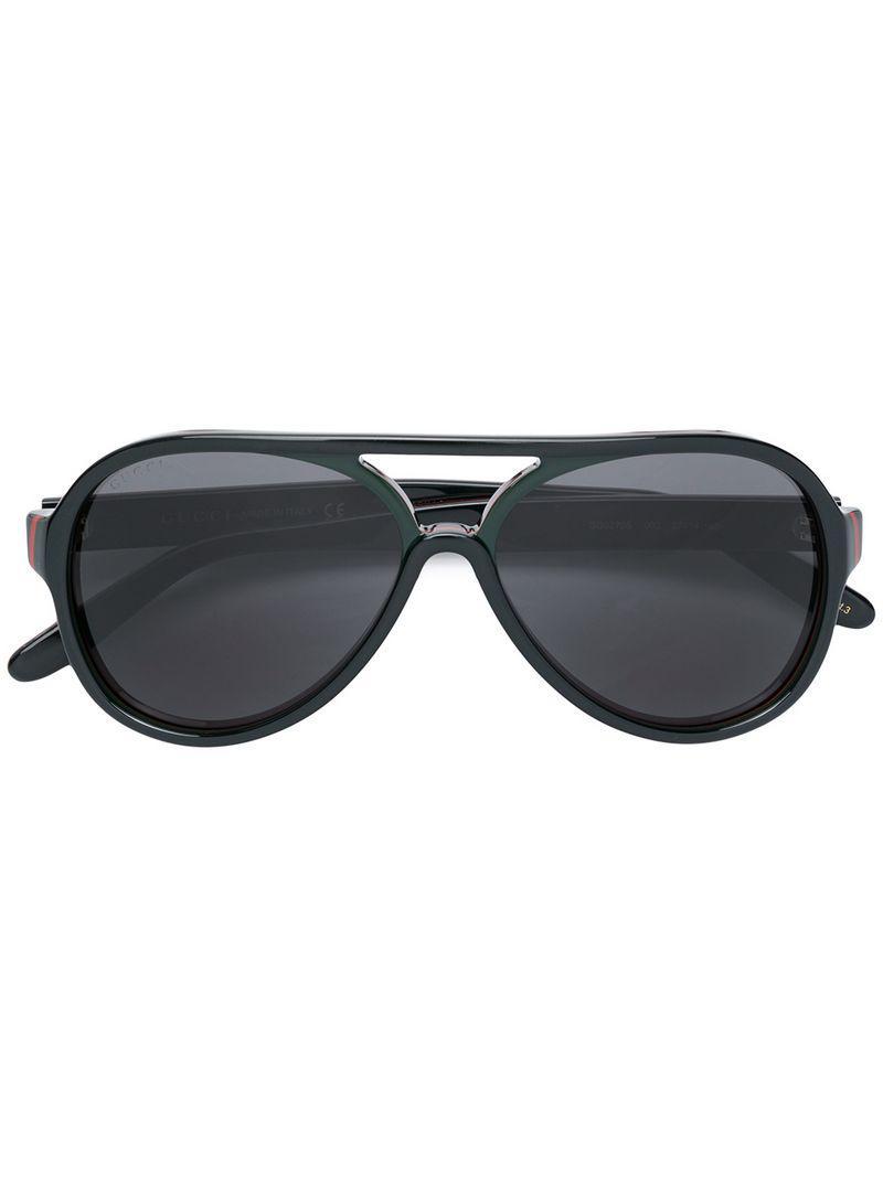 3d8854bbe4c Gucci Aviator Sunglasses in Black for Men - Lyst