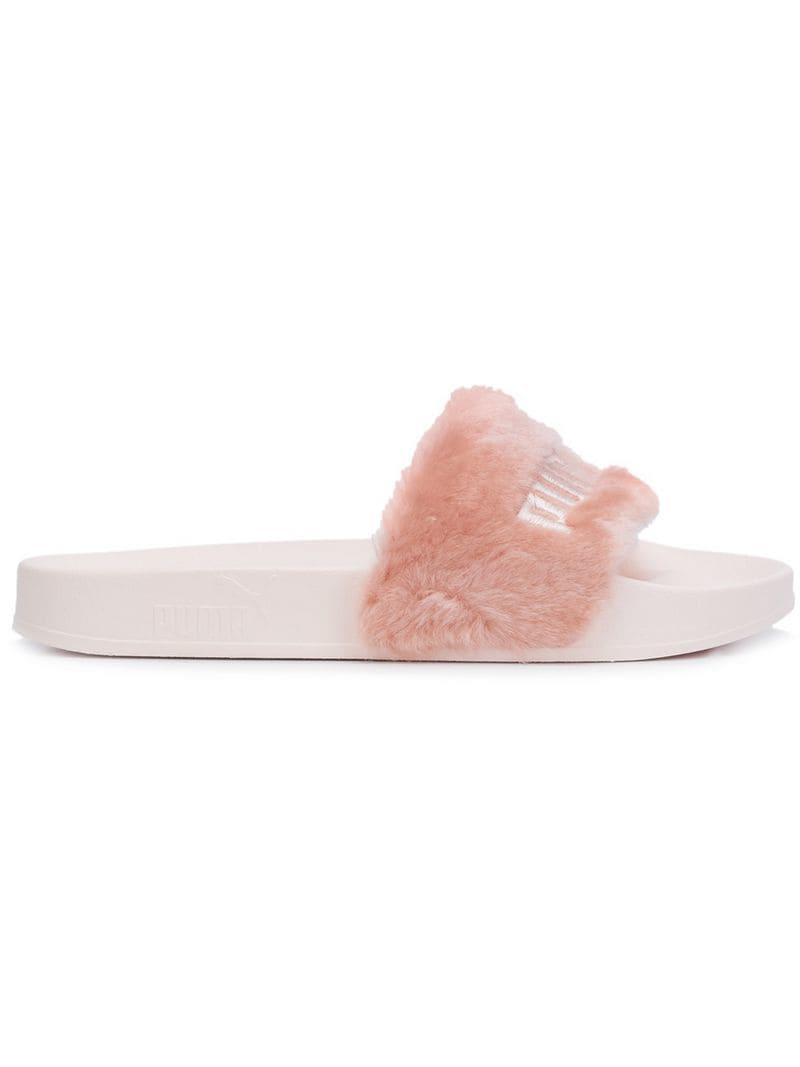 c94bcbf1fabd0c PUMA Fenty Puma X Rihanna Slides in Pink - Lyst