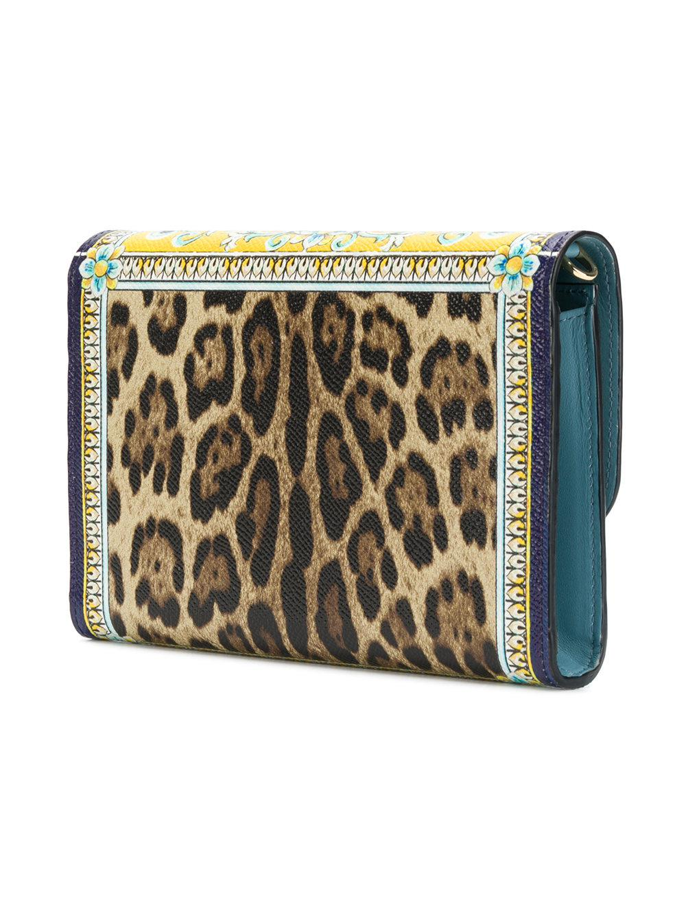 Majolica and Leopard print wallet on a chain - Multicolour Dolce & Gabbana 5f2AlB
