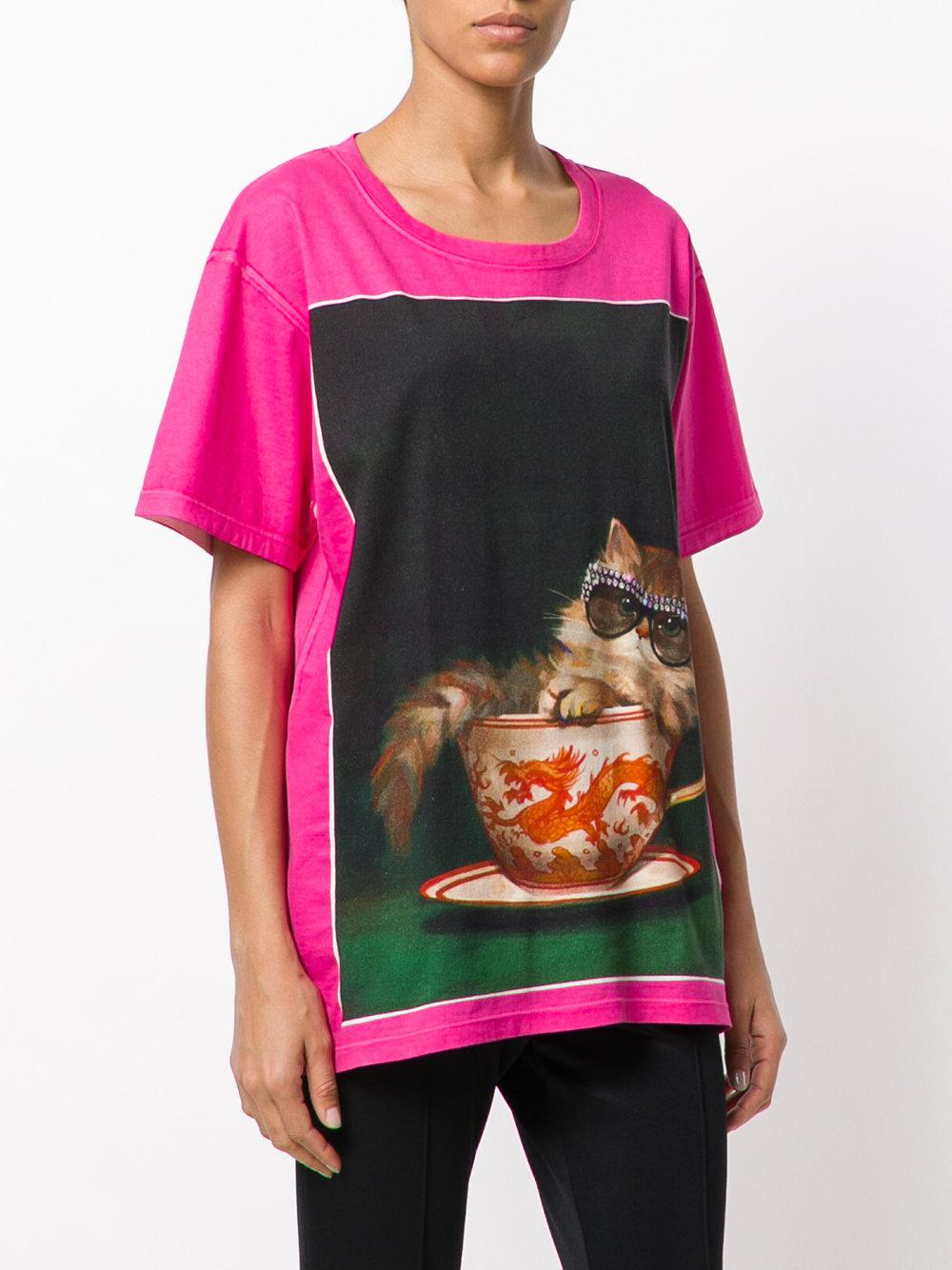 fd107ef2a Gucci Ignasi Monreal Print T-shirt - Lyst