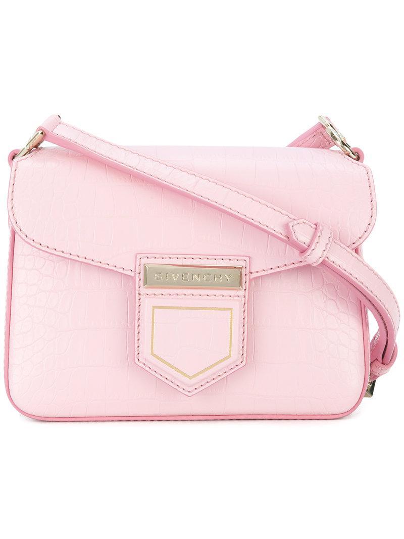 púrpura mini nobile bandolera Bolso rosa y Givenchy wqa6P7Px