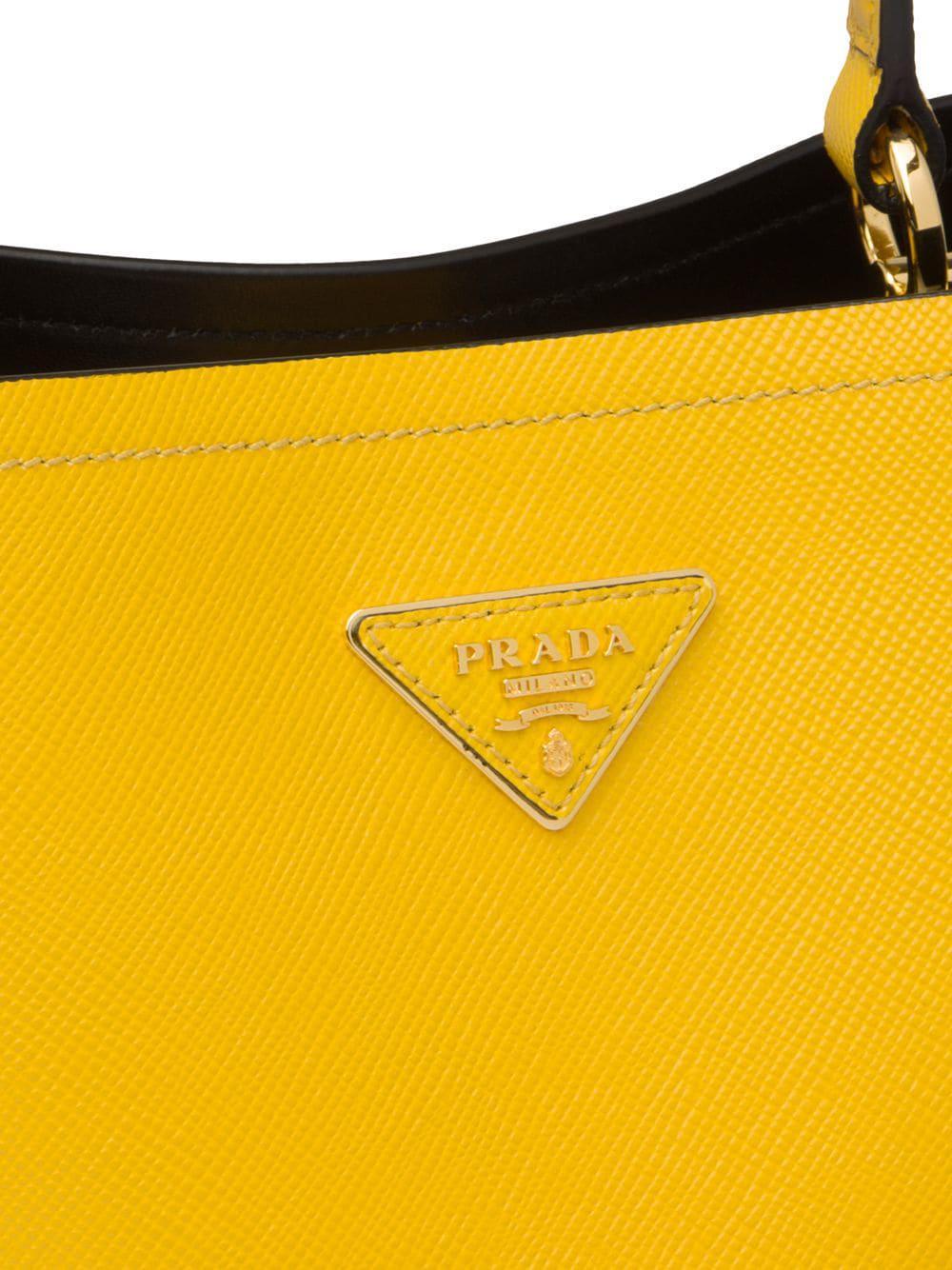 6af89182014d Prada - Yellow Double Medium Bag - Lyst. View fullscreen