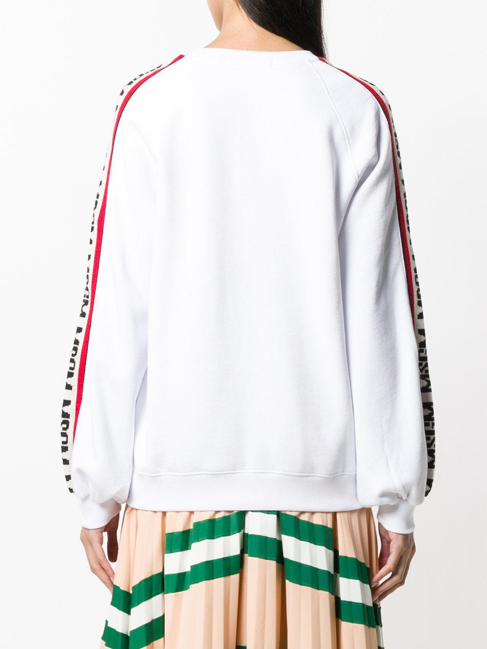 logo stripe detail jumper - White Msgm Outlet Pictures Top-Rated Affordable Low Shipping 5AKHIttDX