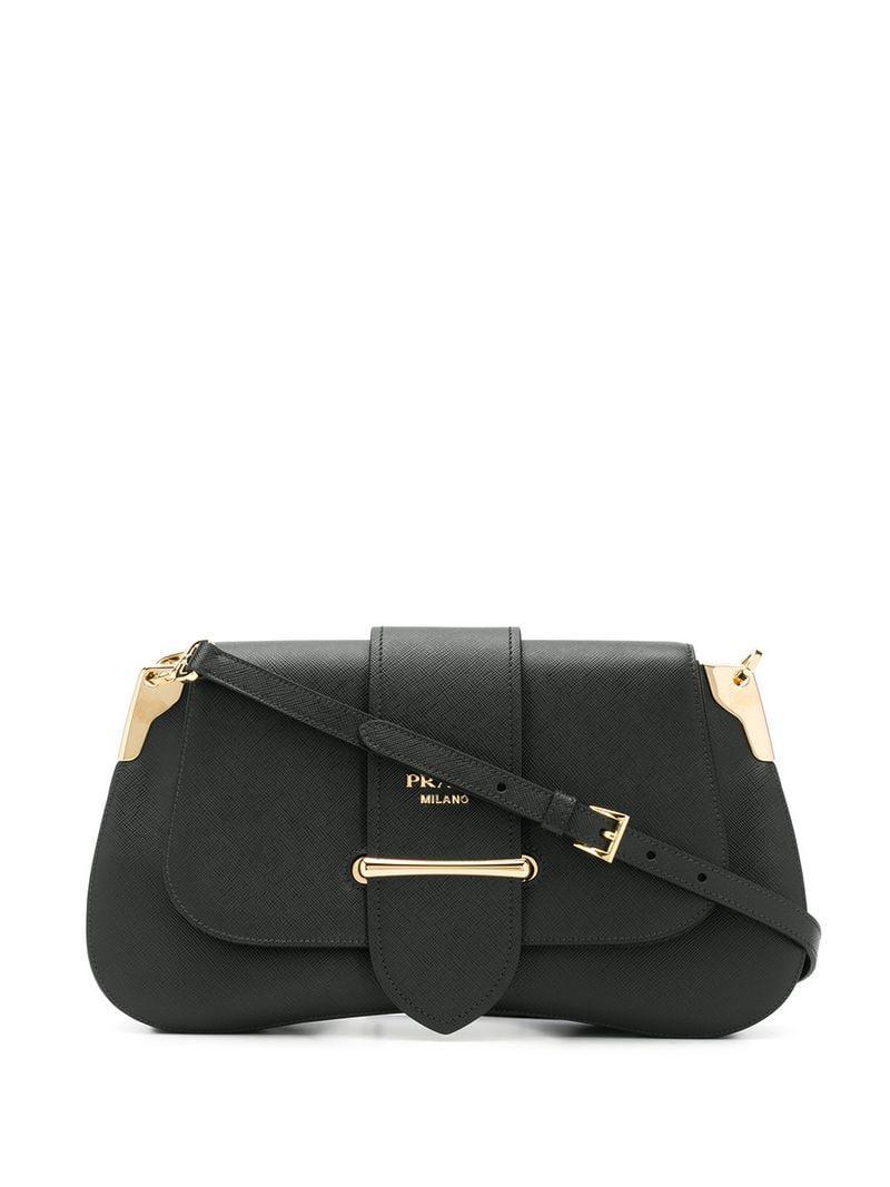 29d22119d1 Lyst - Prada Sidonie Shoulder Bag in Black