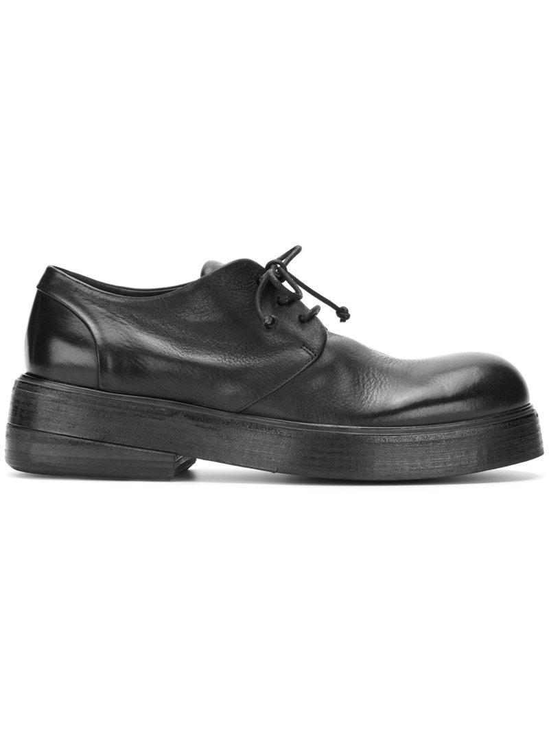 02d22e8a Zapatos derby con suela gruesa Marsèll de hombre de color Negro - Lyst