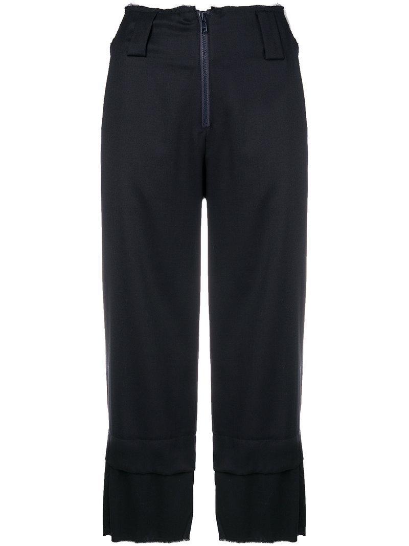 cropped trousers - Blue Reality Studio TaYy1lJ