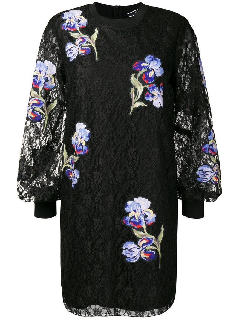 floral embroidered mini dress - Black Sportmax 7ioRFdnh
