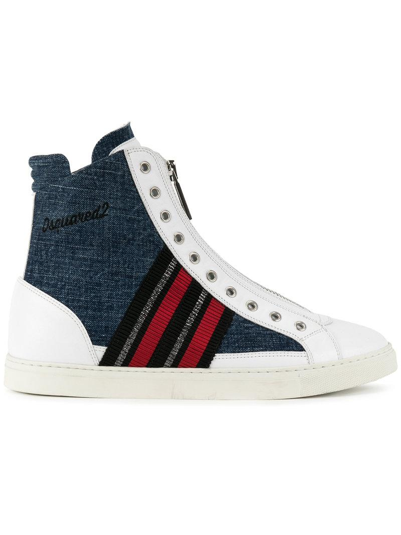 37604ac1799 Lyst - Dsquared² Hi-top Sneakerss in White