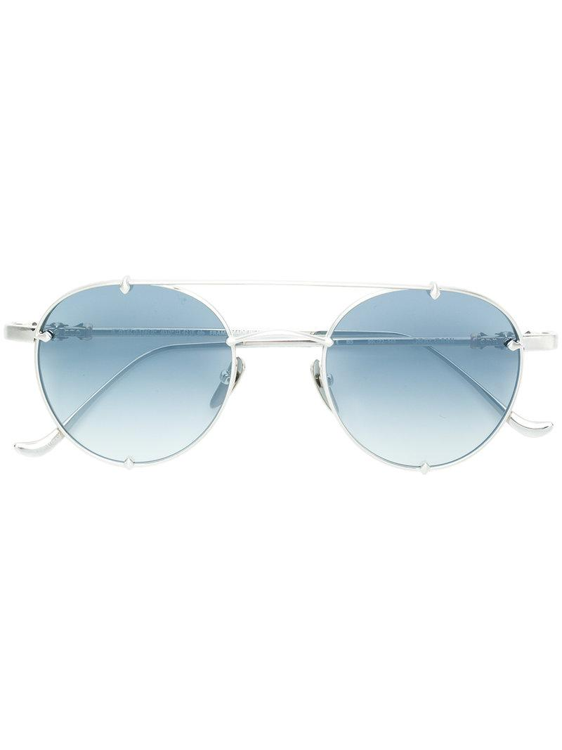 d57d8ed0e93 Chrome Hearts Aviator Sunglasses in Metallic - Lyst