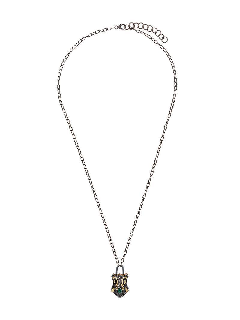 Gemco Designs dagger pendant necklace - Blue 31I4Kc